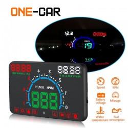 Pantalla para coche con indicador velocidad y gasolina GEYIREN E350 OBD2 II HUD 5.8 Inch