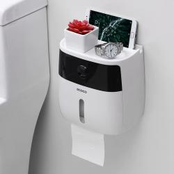 Dispensatore carta igienica impermeabile multifunzione con cassetto