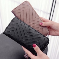 Elegancki długi portfel damski