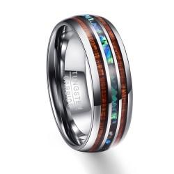 Holzmaserung Polieren Mnner Ringe Nahen 100 Hartmetall Hochzeit Bands Multi-gre Anillos para hom
