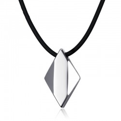 Tungsten carbide rhombus - necklace