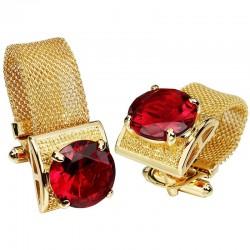 Boutons de manchette de luxe d'or avec crystaux
