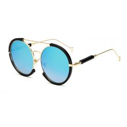 Oval vintage steampunk sunglasses