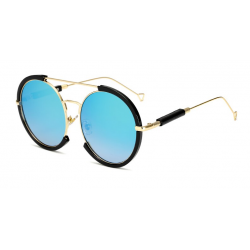 Owalne vintage steampunk okulary przeciwsłoneczne