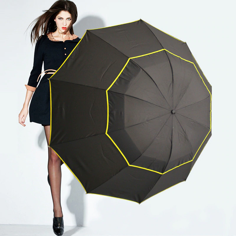 Large windproof umbrella 130 cm
