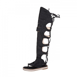 Sandali stile gladiatore al ginocchio
