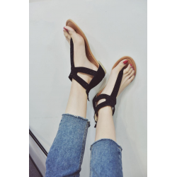 Summer woman diamond zipper sandals