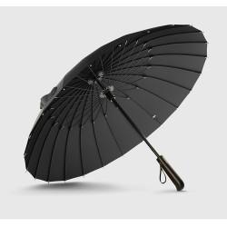 Offre spciale marque Parapluie de pluie hommes qualit 24 K fort coupe-vent en fibre de verre cadre