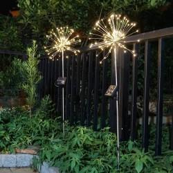 120 LED - zewnętrzne - świąteczne lampki zasilane energią słoneczną