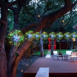 120 LED - outdoor - christmas solar powered lights
