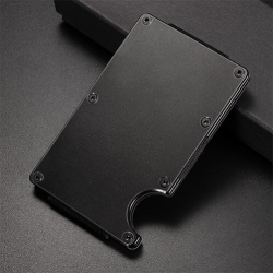 Mini uchwyt na karty kredytowe - metalowy portfel