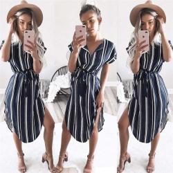 Elegant striped dress