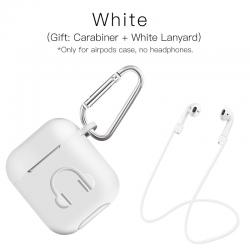 Miękkie silikonowe etui na słuchawki Apple AirPods z haczykiem