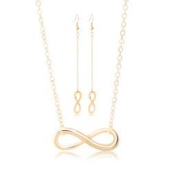 Szczęśliwa 8 - kolczyki & naszyjnik - komplet biżuterii