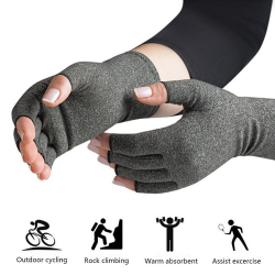 1 pair cotton therapy compression gloves
