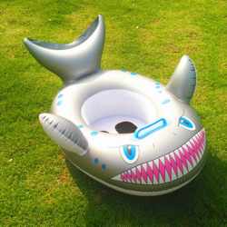 Rekin - nadmuchiwany pierścień do pływania dla niemowląt - siedzisko z rączką