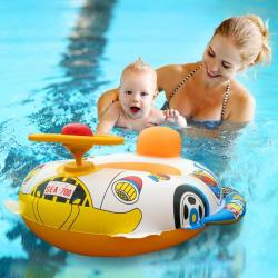 Nadmuchiwany samochód basenowy - fotelik dziecięcy