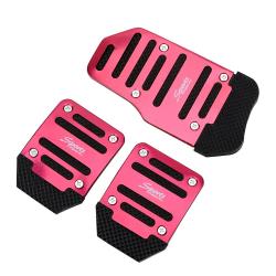 Anti-slip auto voetpedaal cover - aluminium 3 stuks