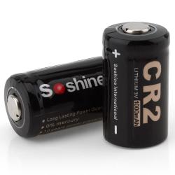 CR 2 - 3V 1000mAh battery - for LED flashlight & headlamp bicycle light 2 pcs