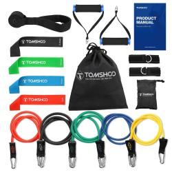 Opaski odpornościowe do ćwiczeń jogi & fitnessu - zestaw 17 sztuk z torbą
