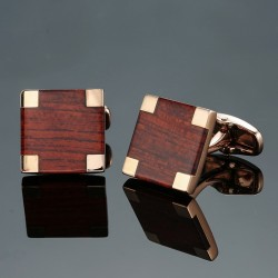 Eleganckie kwadratowe spinki do mankietów z włókna węglowego