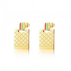 Luxuriöse goldene Edelstahlohrringe