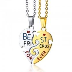 Best Friend Forever - naszyjnik ze stali nierdzewnej 2 szt