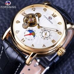 Forsining Tourbillion - świetlisty design - luksusowy zegarek automatyczny