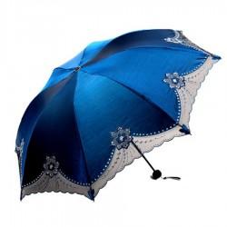 Parasol przeciwdeszczowy z koronką - ochrona UV