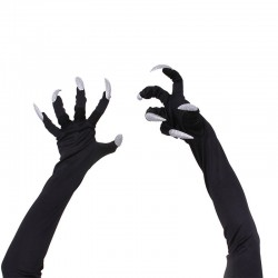 Halloween gloves with long fingernails