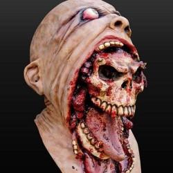 Krwawy zombie - pełna maska Halloween
