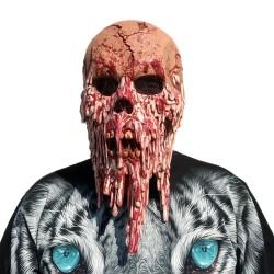 Chodząca śmierć - maska Halloween na całą twarz