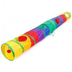 Túnel colorido para mascotas - tubo plegable