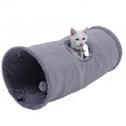 Foldable pets tunnel with ball & steel frame