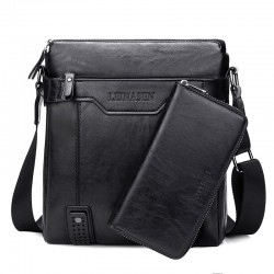 Modna skórzana torba na ramię & crossbody z portfelem