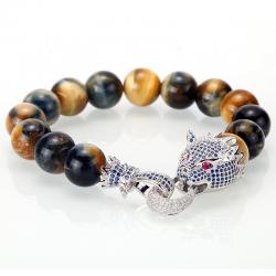 Kryształowy smok - bransoletka z koralików kamiennych