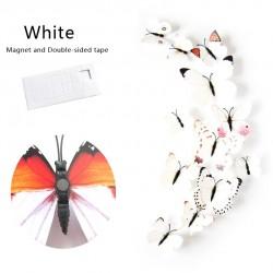 Naklejki ścienne z motylami 3D - magnesy na lodówkę 12 sztuk