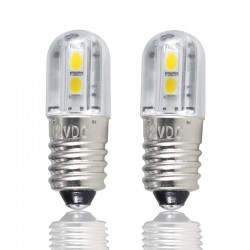 E10 - DC 6V 12V 24V 36V 48V - Bombilla LED - luz interior 4 piezas