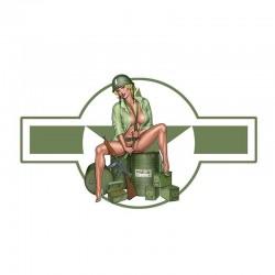 US Army Girl - Adhesivo de vinilo para automóviles y motocicletas - Resistente al agua 13 * 7.4cm