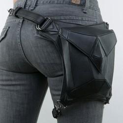 Steampunk - gothic - skórzana torba na talię & nogę