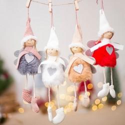 Wiszące lalki świąteczne 4 sztuki