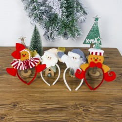 Opaska dziewczęca z dekoracjami świątecznymi