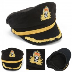 Seemann - Marine - Kapitänhut für Party - Cosplay