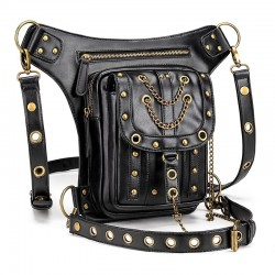 Multifunction waist & leg & shoulder steampunk bag - waterproof - unisex