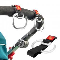 Uniwersalny haczyk do wózka dziecięcego - aluminiowy klips