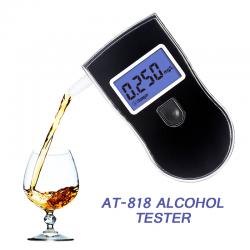 Profesjonalny tester alkoholu - alkomat szybkiego reagowania - wyświetlacz LCD
