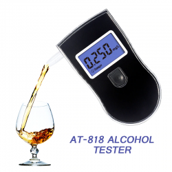 Professional alcohol tester - quick response breathalyzer - LCD display