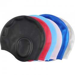 Silicone swimming cap - long hair & ears protection