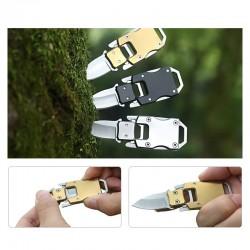 Składany kieszonkowy mini nóż ze stali nierdzewnej z pochewką