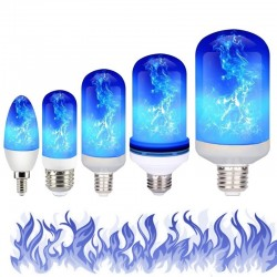 3W 5W 9W - E27 E26 E14 E12 Led 85-265V - bulb with fire effect - blue
